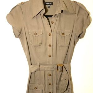 Bebe shirt dress with belt size xs